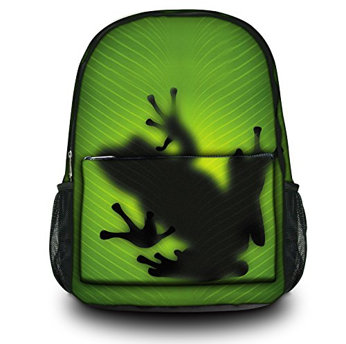 Luxburg® Design Rucksack Multifunktionsrucksack Ranzen Schulranzen Sporttasche Backpack Frosch Silhouette