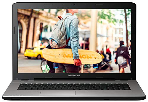 MEDION E7419 43,9 cm (17,3 Zoll HD) Notebook (Intel Celeron 3855U, 4GB RAM, 500GB HDD, Intel HD Grafik, DVD, Win 10 Home) Silber