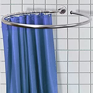 watsons loop circular round shower rail and curtain. Black Bedroom Furniture Sets. Home Design Ideas