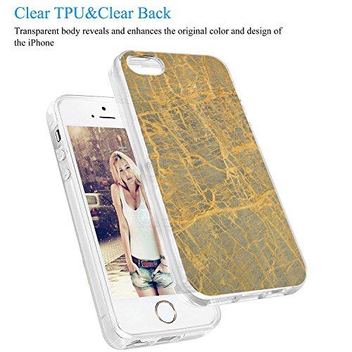 iPhone 5 Custodia Marmo TPU Gel Silicone Protettivo Skin Custodia Protettiva Shell Case Cover Per Apple iPhone 5s (6) 3