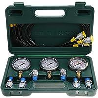 G1/4 Kit de Prueba de Presión Hidráulica,Calibrador de Presion Medidor de Presion Hidraulica con Punto de Prueba de Acoplamiento y Manómetro para Excavadoras de Maquinaria de Construcción