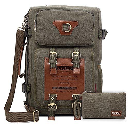 Zaino viaggio aereo versatile viaggio zaino , escursionismo portable notebook zaini da kaukko,verde militare