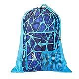 Speedo Deluxe Ventilator Mesh Bag, Cage Blue, 15x15x2 cm