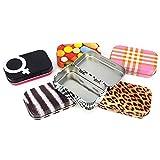 COM-FOUR® 6er Set Pillendose Tablettendose Dose Box Metall in 6 verschiedenen Motiven (06 Stück - Mix)