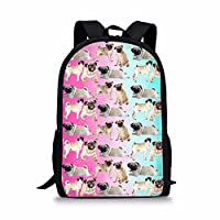 HUGS IDEA Dogs Pattern Kids School Bookbag Cute Animal Backpack Back to School