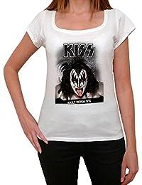 Kiss Demon, tee shirt femme, imprimé célébrité,Blanc, t shirt femme,cadeau