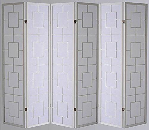 PEGANE Biombo Kwai - Blanco / 6 Paneles