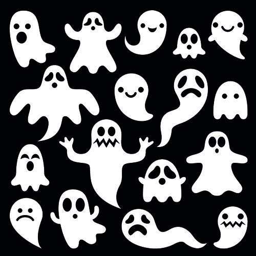 knusper.haus Servietten mit Motivdruck GEISTERSTUNDE SPÖKEN (33 x 33 cm / 3 - Lagig - 20 Stück) Halloween Highlight