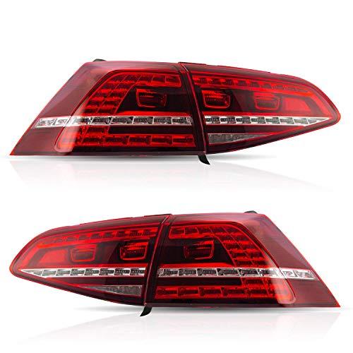 VLAND LED Bar Rückleuchten Set für Golf 7 Golf7 MK7 R20 2013 2014 2015 2016 2017 Rücklicht sequentieller Blinker