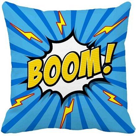 Alexander blau Comic Funny Ray Flash Boom Stil Luxus Print Zuhause dekorativer Überwurf-Kissenbezug Reißverschluss quadratisch Twin Seite Druck, 18x18inch
