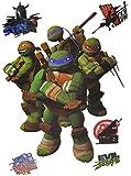 Unbekannt 6 tlg. Set: Fensterbilder / Sticker - Teenage Mutant Ninja Turtles - Fensterbild Aufkleber für Kinderzimmer - Jungen Hero Comic Schildkröten Kinder - Wandtattoo Wandsticker Fensterfolie