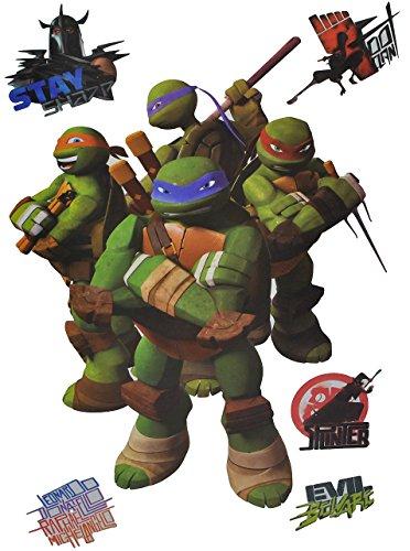Unbekannt 6 TLG. Set: Fensterbilder / Sticker - Teenage Mutant Ninja Turtles - Fensterbild Aufkleber für Kinderzimmer - Jungen Hero Comic Schildkröten Kinder - Wandtatt..