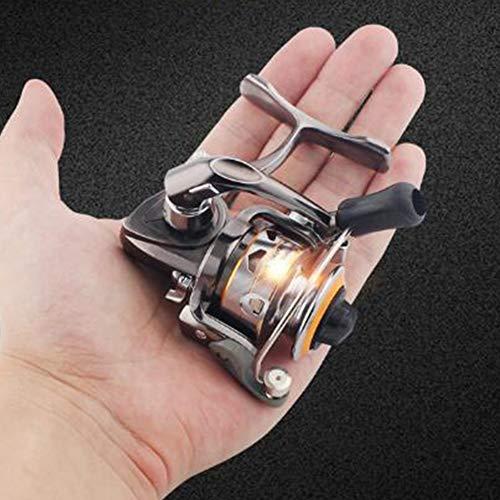 RUNATURE Mini Angelrollen 159g Kleine Spinnrolle Ultraleicht glatt mit Aluminiumspule, 6 + 1BB , 4.3 : 1 Übersetzungsverhältnis, für Karpfen-Bassforelle