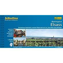 Bikeline Radregion  Elsass: Grenzenloses Raderlebnis zwischen Pfälzer Wald und Jura, dem Rhein und Lothringen, 1550 km, 1: 75.000, wetterfest/reißfest, GPS-Tracks-Download