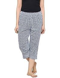 PDPM Women's Hosiery Knitted Cotton Capri/Night Lower/Loungewear / Nightwear