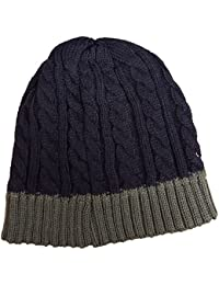Mens or Ladies (Unisex) Cable Knit Beanie Hat With Warm Fleece Lining HT0082