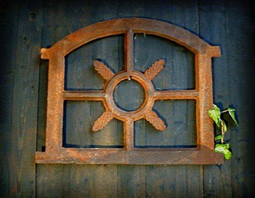Antikas - Eisenfenster Stallfenster für Gartenmauer antik Sprossenfenster Fenster Eiche kl