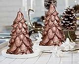 candele natale albero dorato grande partito decorativo dono cera naturale regalo Set 2