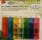 Pilulier hebdomadaire coloré - Avec 7jours