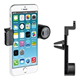 kwmobile supporto bocchette d'aria per Apple iPhone 6 / 6S / 7 autovettura auto sostegno bocchette d'aria in nero