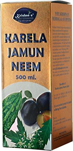 Krishna's Herbal & Ayurveda Karela Jamun Neem Mix Juice - 500 ml