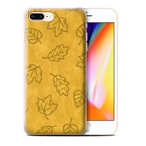 Stuff4 Hülle / Case für Apple iPhone 8 Plus / Grün Muster / Blatt Muster/Textil Effekt Kollektion Gelb