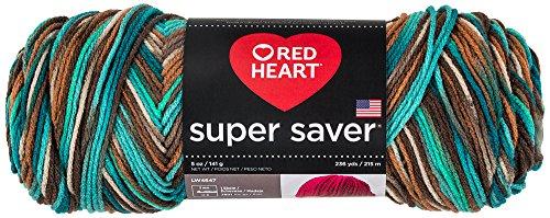 Red Heart Super Saver Garn, Almandine Druck Print - Reef Heart Reef