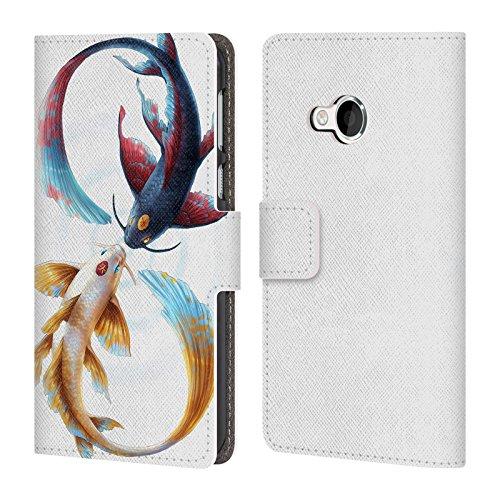 Head Case Designs Offizielle Jonas JoJoesArt Jödicke Ewige Bindung Koi Wilde Tiere Brieftasche Handyhülle aus Leder für HTC U Play/Alpine