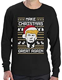 Make Christmas Great Again TRUMP Ugly Christmas Sweater Langarm T-Shirt
