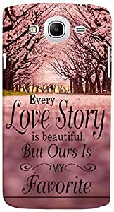 PrintVisa 3D-SGMEGA5.8-D8003 Quotes Love story Trees Case Cover for Samsung Galaxy Mega 5.8 I9150