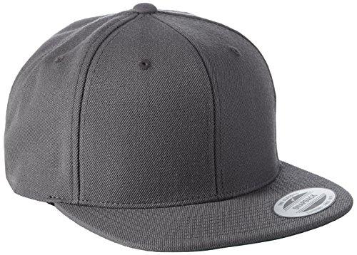 Flexfit Classic Snapback Cap, Mütze Unisex Kappe für Damen und Herren, One Size, Farbe darkgrey