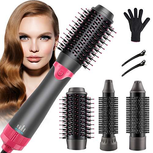 Haartrockner Warmluftbürste, Lovebay Multifunktions 3 In 1 Haartrockner Bürste Warmluftbürste Föhnbürste Heißluftbürste Haarglätter für alle Haartypen Föhnbürste