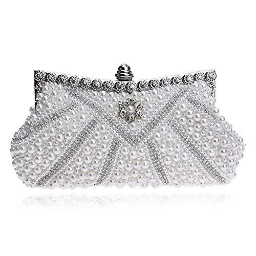 Yao vestito da sera in pelle scamosciata di lusso perla decorazione personalità lucido elegante borsa da sera delle signore multi-colore opzionale grande capacità della borsa (colore : a3)