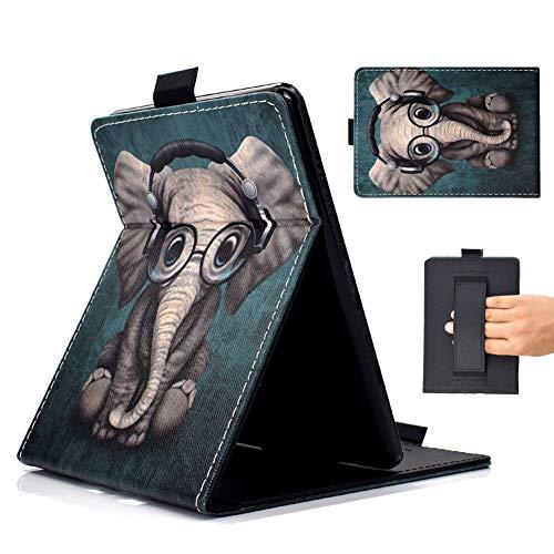 Outter Smart Kindle Paperwhite Case, Pelle Custodia a Conchiglia Ultra Sottile con Auto Sveglio/Sonno Funzione e Cinghia a mano integrata per Amazon Kindle Paperwhite All Generation - Elefante