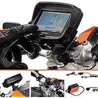 UltimateAddons®–Pro 19–35mm manubrio con supporto dedicato per TomTom Rider v54.3con 2Amp Cavo Hardware carica batterie
