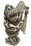 azzesso – Elegantes hell braunes Damen Tuch Melanie, ca. 110x110 cm, quadratischer Schal mit braunem Muster, Gemusterter Damenschal, Mode Made in Italy