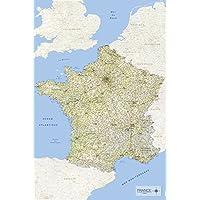 Carte de France 2017 61x91,5cm