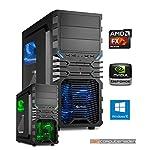 Gamer PC System AMD, FX-6300 6x3,5 GHz, 8GB RAM, 1000GB HDD, nVidia GTX1050 Ti -4GB, inkl. Windows 10 (inkl. Installation) Gaming Computer Büro Multimedia dercomputerladen