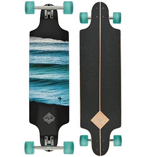 Osprey Skate Kids 'Linear komplett Longboard Skateboard, Blau, Größe 38