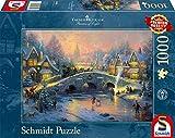 "Schmidt Spiele 58450 - Thomas Kinkade ""Winterliches Dorf"", 1000 Teile Puzzle"