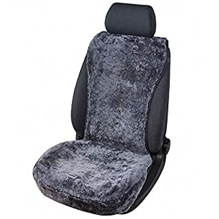 kuschelweiche Universal Lammfell Autositz Auflage anthrazit für alle PKW, Sommer + Winter, 100% australische Lammfelle