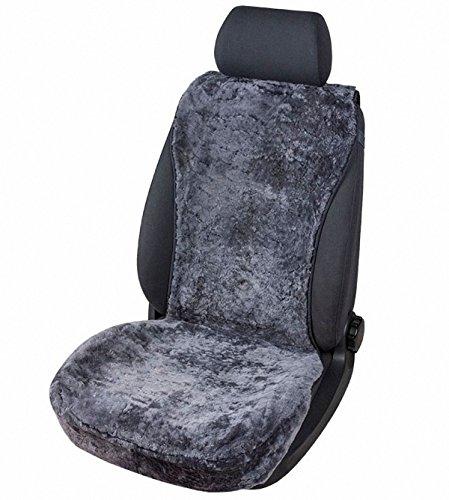 kuschelweiche Universal Lammfell Autositz Auflage anthrazit für alle PKW, Sommer + Winter, 100{76212fab2a98958c72f038beb5923ed62cca7d45440fb63316d5a351b1d0b39a} australische Lammfelle