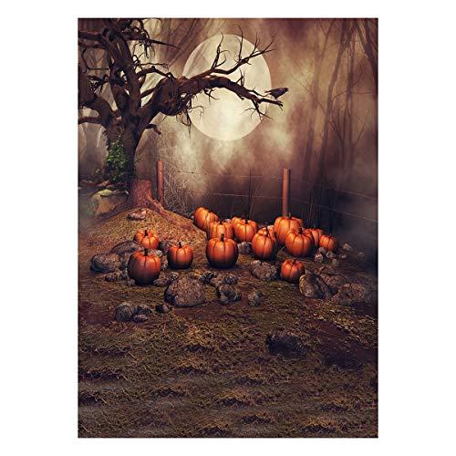 Uonlytech Halloween Foto Hintergrund Kulisse für Fotografie Studio Photo Booth 90x150 cm