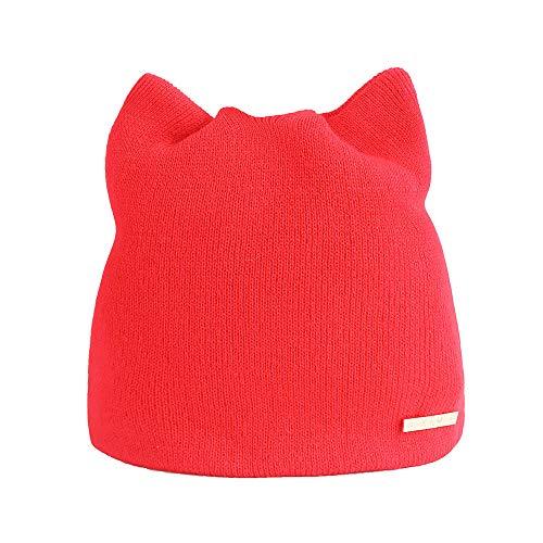 Katzen-Ohr-Strickpullover-Kappen-Damen-Normallack-einfacher Warmer Hut
