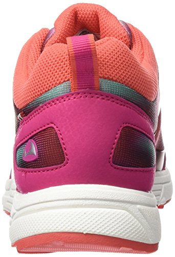 Viking Litloey, Baskets Basses mixte enfant Rose - Pink (Dark Pink/Multi 3950)