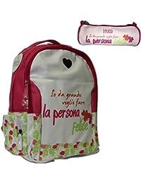 Preisvergleich für LEMA-NET, Kinderrucksack Weiß Bianco
