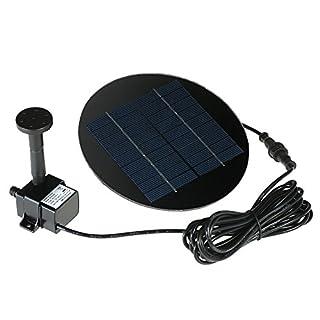Anself 9V 1.5W Solar Panel Water Pump Kit,Solar Powered Fountain Submersible Brushless for Bird Bath Pond Pull Garden