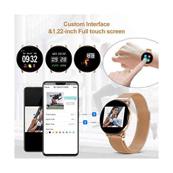 GOKOO Smartwatch Fashion para Hombre Mujer Impermeable Reloj Inteligente Monitores de Actividad Fitness Tracker con… 7