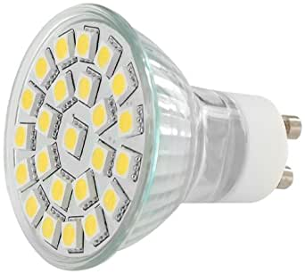 Whitenergy LED Lampe MR16, Sockel GU10, 3.5W, 210 lm, 3000K, 120° Strahler 04896