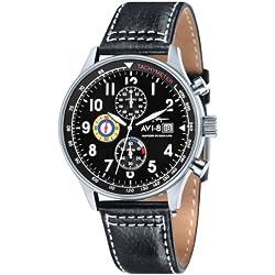 Negro Hawker Hurricane Classic Cronógrafo Relojes de AVI-8